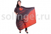 Пеньюар Hairway черно-красный,136х160 см