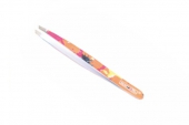 Пинцет скош.цветной АТ-9907