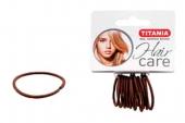 Резинки Titania 3см 12шт/уп коричневые 7801