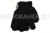 Мочалка-перчатка Hairway черная 2шт/уп.