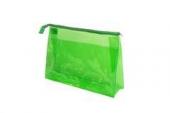 Косметичка Sibel прозрачная зеленая 34х22см