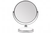 Зеркало Titania настольное двойное D-12см 1596 5-кр.увелич.