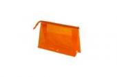 Косметичка Sibel прозрачная оранжевая 25х15см