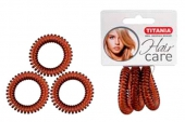 Резинки Titania 4см 3шт/уп коричневые пружина 7918