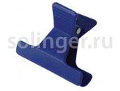 Зажим Sibel пласт.узкий 4 цвета 12шт/уп (42061)