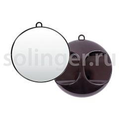 Зеркало Hairway задн.вида круглое 280 мм серебрянное