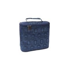 Сумка-бокс мини(жаккард)синий 22x25x12см