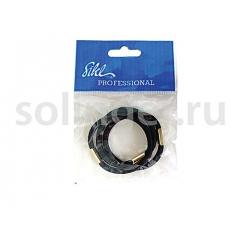 Резинки Sibel (25) для волос черн.толст. 3шт/уп