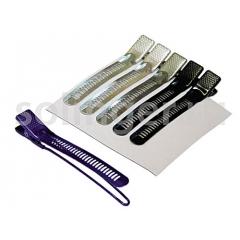 Зажим Sibel метал.цветной 6шт/уп (42037)
