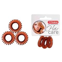 Резинки Titania 2,5см 3шт/уп коричневые пружина 7915