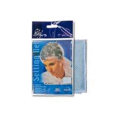 Сеточка-косынка Sibel для бигуди средняя,голубая