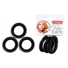 Резинки Titania 4см 3шт/уп черные пружина 7917