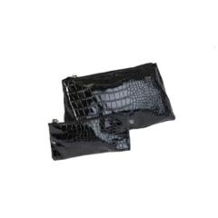 Набор из 2-х сумочек косм.Крокодил черная прямоуг.