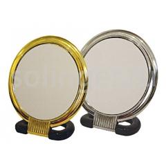 Зеркало Sibel наст.9см кругл.серебр.